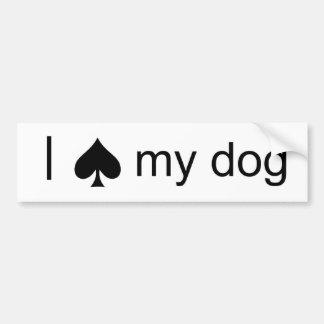 Spade Dog Bumper Sticker