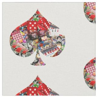 Spade - Las Vegas Playing Card Shape Fabric