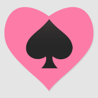 Spade - Suit of Cards Icon Heart Sticker