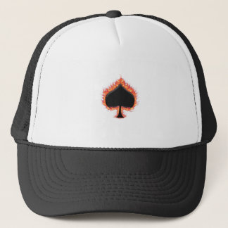 Spades Flames Trucker Hat