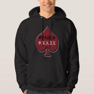 spadeS.K.A.T.E rd & blk jckt Hooded Sweatshirts