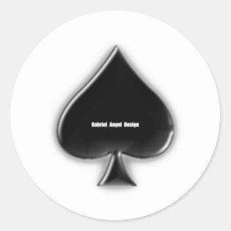 Spades Suit Round Sticker