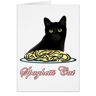 Spagehetti Cat Eloquence Card