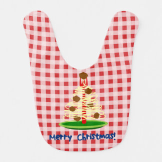 Spaghetti and Meatball Tree Christmas Bib