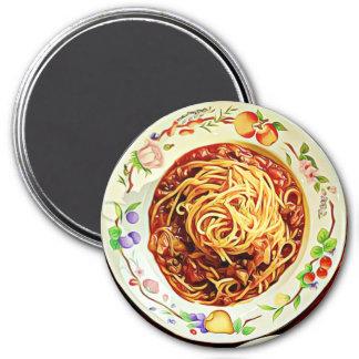 Spaghetti and Meatballs Food Refrigerator Magnet