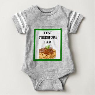 spaghetti baby bodysuit