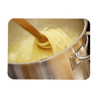Spaghetti Being Stired in Pot Rectangular Photo Magnet