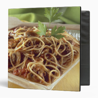 Spaghetti bolognese For use in USA only.) 3 Ring Binders