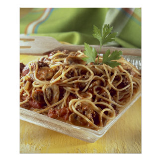 Spaghetti bolognese For use in USA only.) Poster