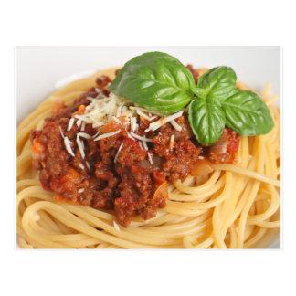 Spaghetti bolognese postcard