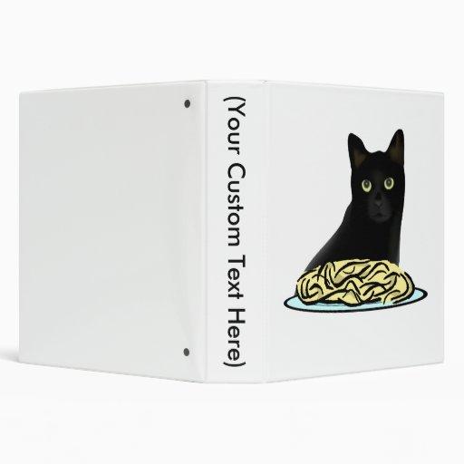 Spaghetti Cat 3 Ring Binders