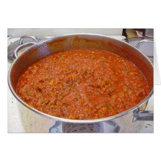 Spaghetti Dinner Cooking Food Italian Sauce Card