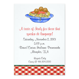 Spaghetti Dinner Invitation