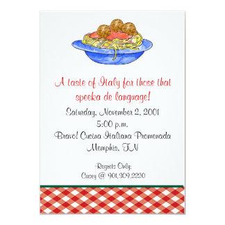 Spaghetti Dinner Invitation