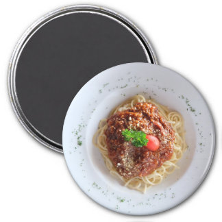 Spaghetti Dinner Plate Refrigerator Magnet