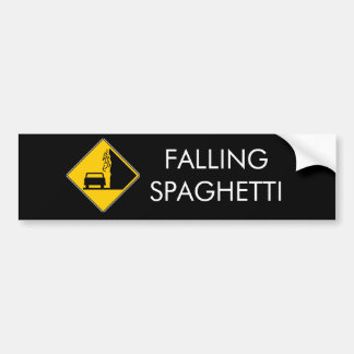 Spaghetti Falls Out Bumper Sticker