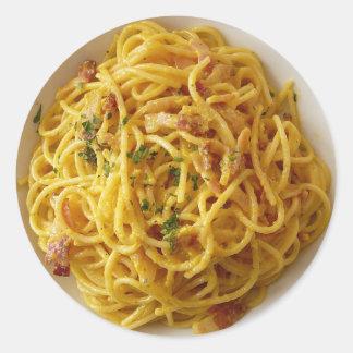 Spaghetti Fettuccine Pasta Foodie Stickers