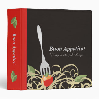 spaghetti fork tomato recipe cookbook binder