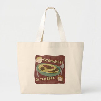 Spaghetti is the Best! Jumbo Tote Bag