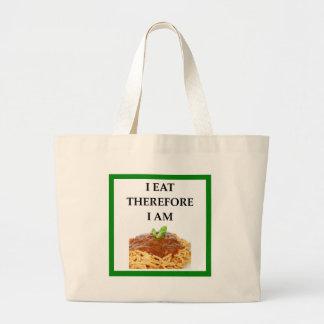 spaghetti large tote bag