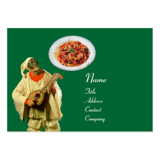 SPAGHETTI & MANDOLIN ITALIAN KITCHEN,black green Pack Of Chubby Business Cards