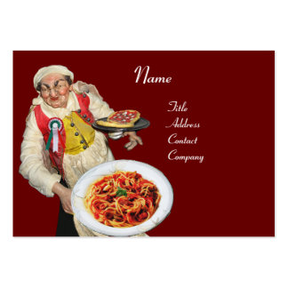 SPAGHETTI & MANDOLIN ITALIAN KITCHEN,black red Pack Of Chubby Business Cards