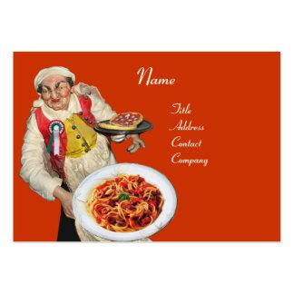 SPAGHETTI & MANDOLIN  ITALIAN KITCHEN, orange Large Business Card