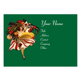 SPAGHETTI PARTY DANCE,ITALIAN KITCHEN AND TOMATOES LARGE BUSINESS CARD