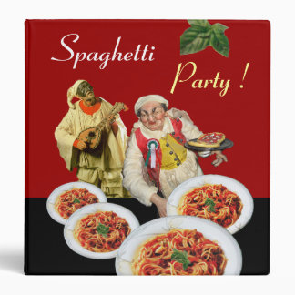 SPAGHETTI PARTY ITALIAN KITCHEN CHEF RECIPE BOOK BINDERS