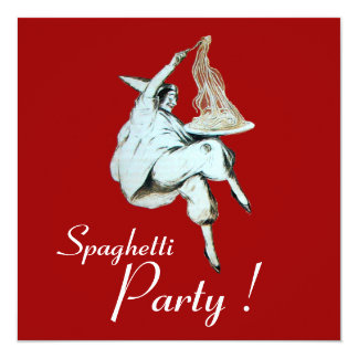 SPAGHETTI PARTY, ITALIAN KITCHEN dinner, brunch Card