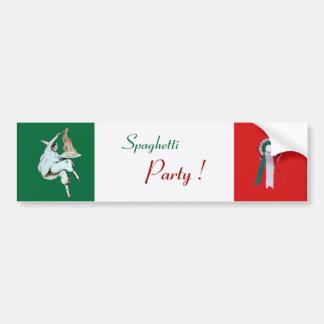 SPAGHETTI PARTY ITALIAN KITCHEN, RESTAURANT green Bumper Sticker