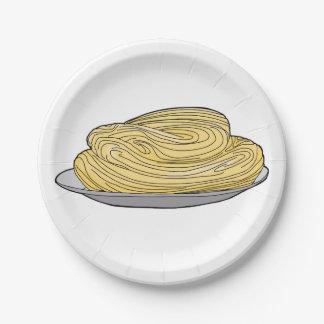 Spaghetti Platter Paper Plate