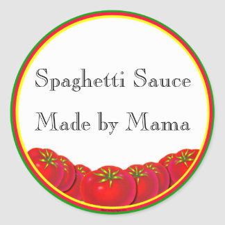 Spaghetti Sauce Customizable Canning Label Sticker