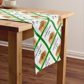 spaghetti short table runner