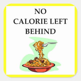 spaghetti square sticker