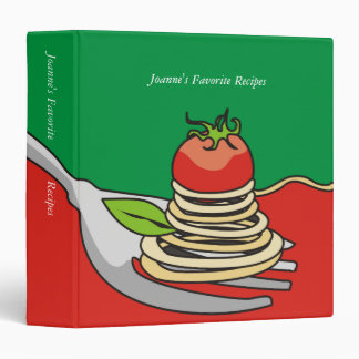 Spaghetti tomato Italian food recipe binder