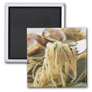Spaghetti Vongole Bianco Square Magnet