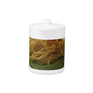 Spaghetti with bottarga on asparagus sauce