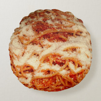 Spaghetti with Parmesan Cheese Throw Pillow