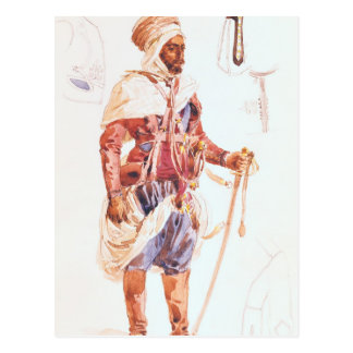 Spahi with his sword, c.1854 postcard