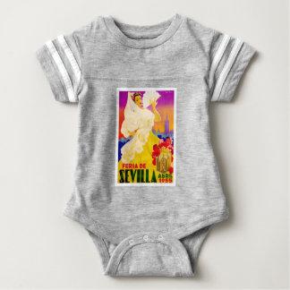 Spain 1955 Seville April Fair Poster Baby Bodysuit