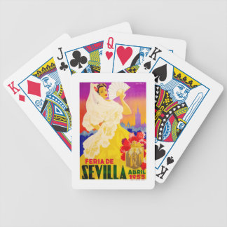 Spain 1955 Seville April Fair Poster Bicycle Playing Cards