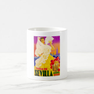 Spain 1955 Seville April Fair Poster Coffee Mug