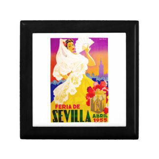 Spain 1955 Seville April Fair Poster Gift Box