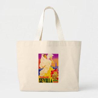Spain 1955 Seville April Fair Poster Large Tote Bag