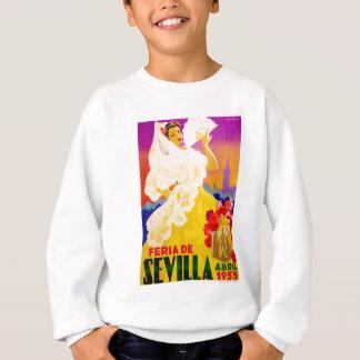 Spain 1955 Seville April Fair Poster Sweatshirt