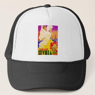 Spain 1955 Seville April Fair Poster Trucker Hat