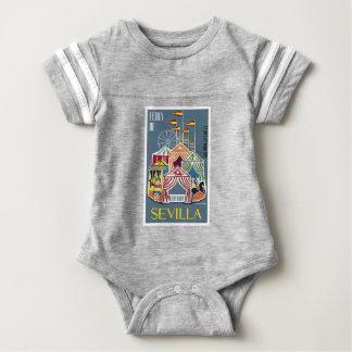 Spain 1960 Seville Festival Poster Baby Bodysuit