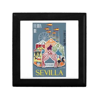 Spain 1960 Seville Festival Poster Gift Box