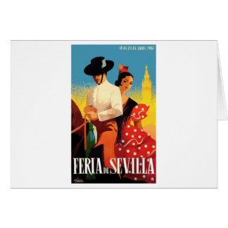 Spain 1961 Seville April Fair Poster Card